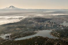 Seattle, Washington, USA An absolutely incredible shot of Seattle, clouds and all.  - Matador Network