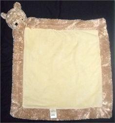 ON AUCTION NOW ~ ~ Disney Classic Winnie the Pooh Tan Brown Plush Head Baby Boy Girl Blanket Lovey