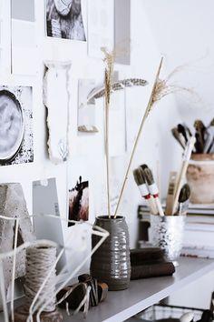 Handmade Home: Office Nook Redux Office Nook, Office Workspace, Office Decor, Handmade Home, Workspace Inspiration, Interior Inspiration, Inspiration Boards, Ux Design, Rue Verte