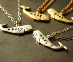 Personalized Whale Necklaces
