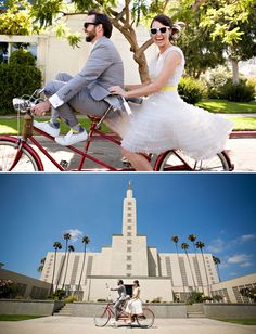 Real Wedding: Rebecca + Dereks Fun Bicycle Wedding