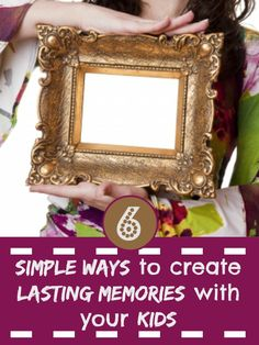 How do you go about making memories with your kids - things that will stick in their mind about their childhood - so they will remember those happier times when they hit the challenges of teen and adult life. You would be surprised at home simple ideas can help making memories really easy....