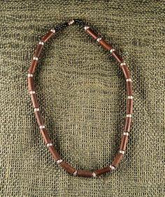 Men's Carved Wood Necklace - Flor Bernal Collections
