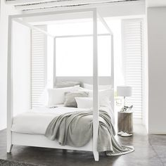 Buy Pimlico Four Poster Bed - from The White Company Best Bedding Sets, Luxury Bedding Sets, Comforter Sets, King Comforter, The White Company, Beige Bed Linen, Four Poster Bed, Poster Beds, Bed Linen Design