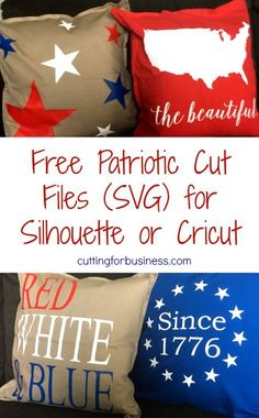 Free Commercial Use SVG Patriotic Cut File Set for Silhouette Cameo or Cricut - by cuttingforbusines...