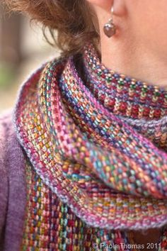 Missoni style knitting scarf pattern by mirrormirror