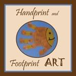 adorable hand and foot print art