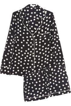 Equipment Lilian polka-dot washed-silk pajama set NET-A-PORTER.COM