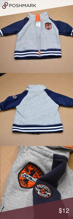 """Carter's Varsity Jacket """"Property of My Mommy"""" Carter's New Born Fall Baby Boomer  Cardigan Varsity Jacket Boys  Future #1 All Star Rookie Other Patch says """"Property of My Mommy"""" Gently worn, please see images for exact item you will receive. Carter's Jackets & Coats"""