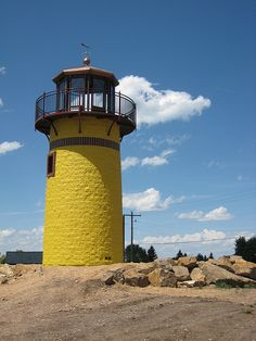 Yellow Lighthouse near Bear Lake