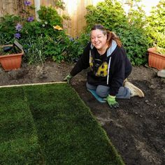 Laying the new lawn - never done this before  - but not looking too bad :0) Multiple Myeloma, Crps, Allotment, Chronic Pain, Arthritis, Lunges, Life Is Good, Lawn, Life Is Beautiful