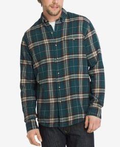 G.h. Bass & Co. Men's Fireside Plaid Flannel Shirt - Green XXXL