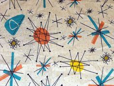 Atomic 50's Design Fabric ~ we had a formica table like this in pink & aqua & black :o/