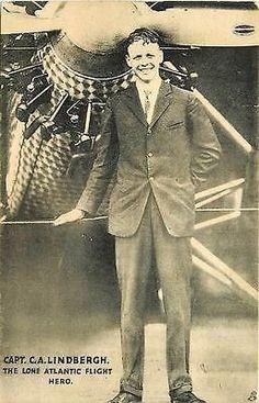 Charles Lindbergh 1927 Spirit of St Louis Airplane Tuck Antique Vintage Postcard
