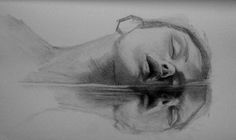 See original image Reflection Art, Reflection Photography, Water Reflections, Water Sketch, Water Drawing, Art Painting Gallery, Painting & Drawing, Painting People, Drawing People
