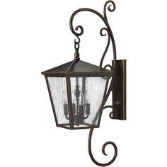 Hinkley Lighting 1436RB Trellis 4 Light 36 inch Regency Bronze Outdoor Wall Mount Clear Seedy Glass
