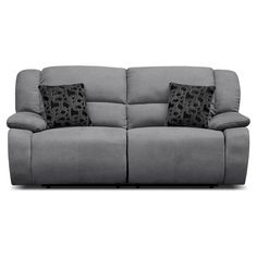 Fortuna Gray Power Reclining Sofa | Furniture.com