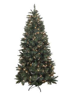 7' Green Douglas Fir Artificial Christmas Tree with 300 Clear Lights