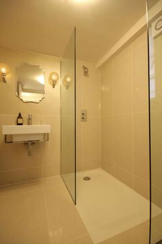 How to make a large shower without making your bathroom bigger ...