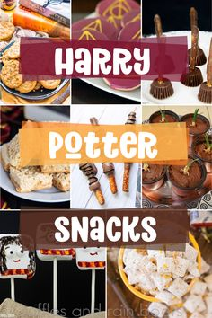 movie night snacks You will not find a better list of the best Harry Potter snacks for fans! There's so many perfect options. You could use this list of Harry Potter snack ideas for your whole Harry Potter party. Harry Potter Snacks, Baby Harry Potter, Harry Potter Cupcakes, Baby Shower Harry Potter, Harry Potter Motto Party, Gateau Harry Potter, Harry Potter Marathon, Harry Potter Birthday Cake, Theme Harry Potter