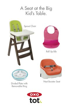 With OXO Tot Boosters And High Chairs, Plus The Sleek Design Of Our  Flatware,