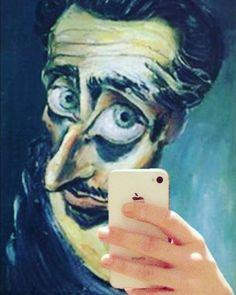 """""""Ama l'arte; fra tutte le menzogne è ancora quella che mente di meno."""" Autoritratto, Albert Tucker;"""