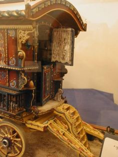 miniature gypsy caravan - awesome craftsmanship