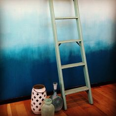 DIY ombre wall (west elm)    Perhaps an glitter ombre wall is in my future!!!