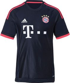 ed212761b The FC Bayern Munich Third Kit is dark navy with pinkish red applications