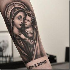 Legendary 80 Superior Non secular Tattoos (finest images! Top Tattoos, Sleeve Tattoos, Tatoos, Maria Tattoo, Mother Mary Tattoos, Catholic Tattoos, Gangster Tattoos, Christian Tattoos, World Tattoo