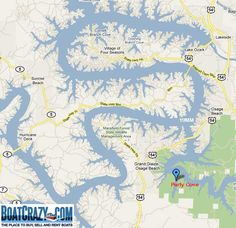 Mile Marker Map Of Lake Of The Ozarks | lake of the ozarks mile