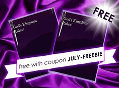 Last day to receive the July freebie - Protect your God's Kingdom Rules book Use the coupon JULY-FREEBIE to get your free vinyl protective cover. (Offer ends July 31st. See website for coupon conditions.) http://MinistryIdeaz.com/Kingdom-Rule-Vinyl