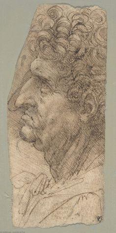 Leonardo Da Vinci-chef d'un homme orienté vers  afin  la  laissée