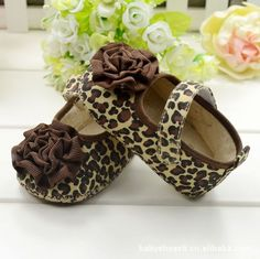 Fashion Baby Girl Kids Toddler Soft Bottom Shoes Brown Leopard Flower Size 3-12 month   #Affiliate