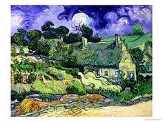 Vincent Van Gogh. Thatched Cottages at Cordeville, Auvers-Sur-Oise. 1890. oil on canvas.