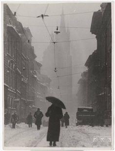 """Ul. Floriańska, 1937, Agencja Fotograficzna """"Światowid"""", wł. MHK."""
