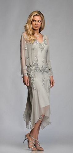 On Sale! Get 50% OFF Now! Gorgeous chic and classy mother of the bride dress (or mother of the groom dress), it's the perfect gown to be remarkable at your daughter or son wedding ceremony. See more at http://www.cutedresses.co/go/Chiffon-Mother-of-the-Bride-Dress-with-Jacket-Appliques