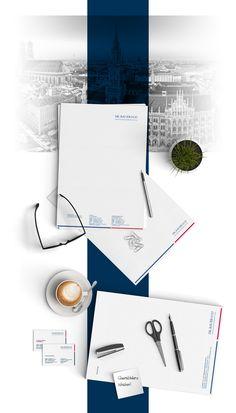 Corporate Redesign: Reduzierte und edle Geschäftsausstattung für das Münchener Unternehmen Dr. Bauer & Co. Vermögensmanagement #rebranding #logodesign #corporatedesign