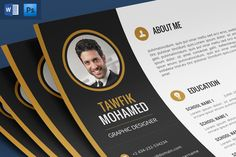 Cv+Portfolio+Coverletter (Psd+Word) by Nody4Design on @creativemarket