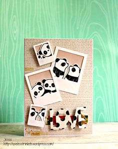 Challenge up your life CUYL #43 Rahmen Frames Mama Elephant Pandemonium Precious Polaroids Photo booth card