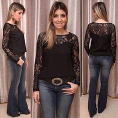 @boutiquedonacota - À pedidos chegaram mais dessa blusa de viscose com detalhe em renda#imperdível#Dona Cota - igbox instagram web viwer