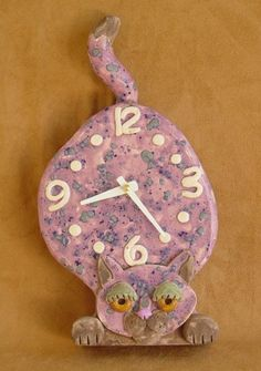 I am lovin this clock! ~ Muddy Hands – Clay Clock Austin, TX