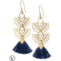 Stella & Dot Aida Tassel Chandeliers (760 ZAR) ❤ liked on Polyvore featuring jewelry, earrings, chandelier jewelry, earrings jewelry, chandelier earrings, vintage jewellery and stella dot jewelry