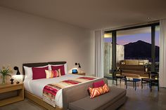 A stunning view of the marina completes this trendy, sophisticated room from Breathless Cabo San Lucas.