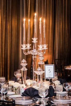 Houston New Year's Eve Wedding - candle centerpieces