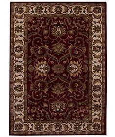 Hand-tufted Teresa Burgundy Wool Rug (8' x 10'6) @ overstock.com