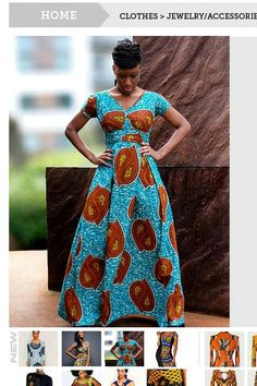 Realllllly like these maxi dresses. Nigerian prints