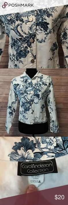 SALE! 🐳 Floral Jean Jacket 🐋 Super fun floral jean jacket! Pairs get with dresses, skirts, shorts & jeans! So many options, so many looks! Carol Anderson Collections Jackets & Coats Jean Jackets