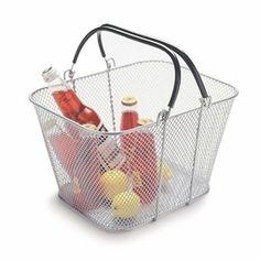 Mesh Shopping Basket, Silver, Set of 12 | The Organizing Store #retailstoredisplay