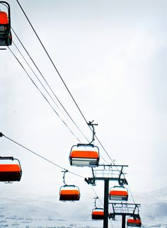 Orange bubble chair lift! Only heated lift I have ever been on :) The Canyons, Park City Utah
